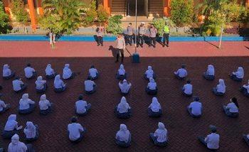 Dalam Rangka Percepatan Vaksinasi Nasional, Polda Maluku Utara Sosialisasi Vaksinasi Bagi Pelajar