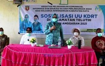 Kunker Di Telutih, Ketua TP-PPK Maluku Tengah Buka Sosilaisasi UU KDRT